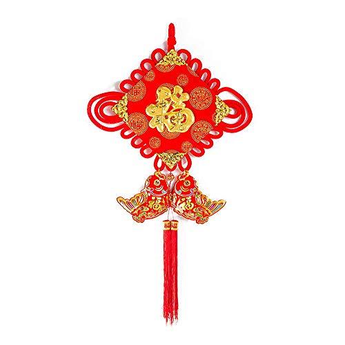 Homeng Décorations, Nouvel an Chinois Traditionnel Ornement Knot Tassel Rouge, Festival de Printemps Chinois Nœud
