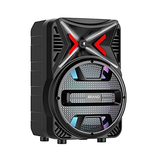 chiwanji Altavoz Portátil Inalámbrico Bluetooth LED Luces Coloridas para Patio Home Party