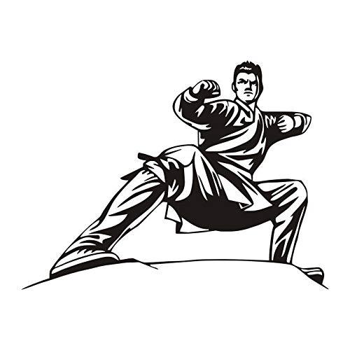 Kung Fu chino Pegatinas de pared Artes marciales Murales de