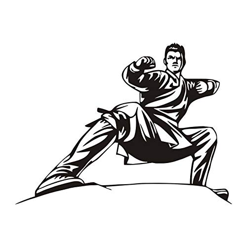 Pegatinas de pared de Kung Fu chino,murales de vinilo de artes marciales,decoración del hogar de artista de estilo chino,nuevas pegatinas de pared populares A4 56x75cm