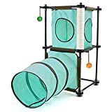 Kitty City Steel Claw Passage Cat Furniture Green, 2 levels (SPO-0583)