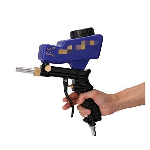 KTSM-Stop-T Sandblaster Portable Portable gravity sandblasting gun, pneumatic sandblasting kit, antirust sandblasting equipment, small sandblasting machine 600cc For car maintenance (Color : Blue)