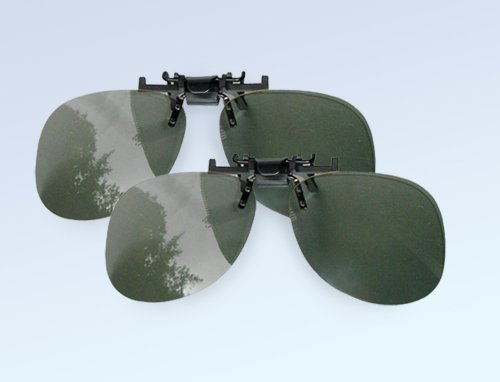"""2 STK 3-D Polfilterbrille, zirkular, passiv (0˚/0˚)\""""Clip On 3D-Brille - Aufsatz für Brillenträger - 2 Stück"""