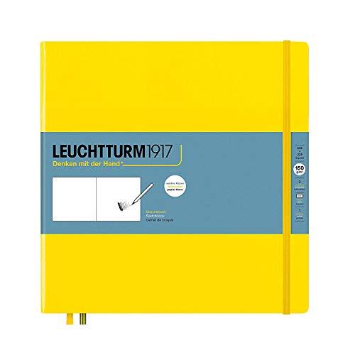 LEUCHTTURM1917 362360 Skizzenbuch Quadrat, Hardcover, 112 Seiten (150 g/m²), Zitrone