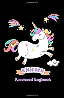 Unicorn Password Logbook: Internet Passwords Organizer Book for With A - Z Tabs Premium Computer Log-In Books Online Shopping Website Manager & Log In Reminder Journal Women & Student Teen Girls