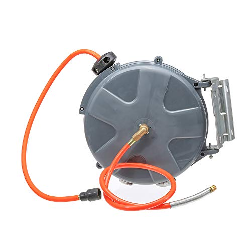 ExcLent Auto Rewind 10M (33Ft) 260Psi Luftschlauchaufroller Rotation Wandmontage Luftkompressor Schlauchaufroller Auto Rewind Garage Tool Verlängerungskabel