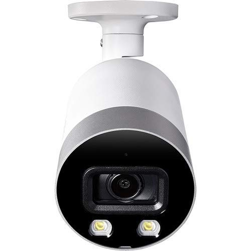Lorex E891AB Indoor/Outdoor 4K Ultra HD Smart Deterrence IP Security Bullet Camera, 150ft IR Night Vision, Color Night Vision, Audio, Only Camera No Cable (Renewed) Alaska