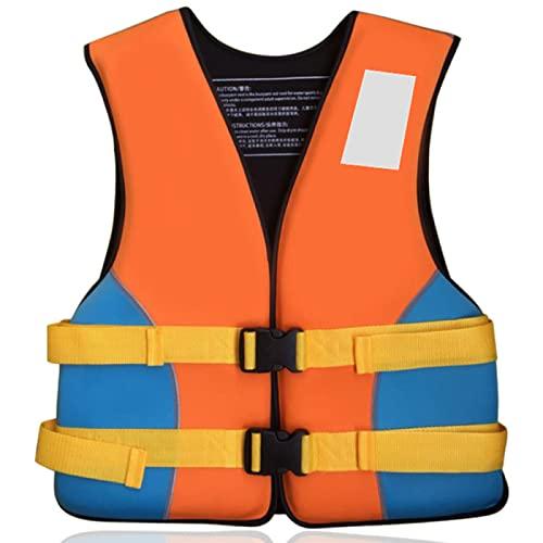ZHENGRUI Chalecos Salvavidas,Accesorios Deportes Acuáticos Chaqueta Dispositivo Flotación Personal Adultos Niños Vela Surf Pesca Kayak,Yellow/Blue-Child-M