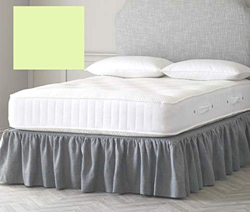 Euro IKEA - Sábana bajera para cama doble (139,7 x 198,1 cm), color verde