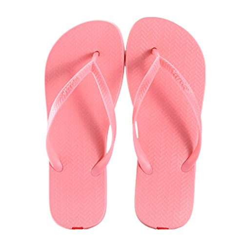 Casual Tongs Unisexe Plage Chaussons Anti-Slip Maison Slipper Coral Rouge