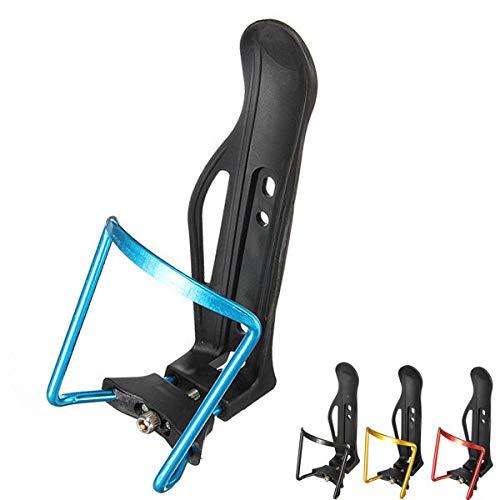ZPEE Portabidones para Bicicletas DurableBike Bicicleta de Aluminio Aleación de Aluminio Botella de Agua Ajustable Titular de Jaula Portabotellas Bicicletas (Color : Black)