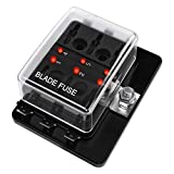 6 Way DC 12~32V Blade Fuse Box Holder Fuse Block with LED Warning Light Protection Cover f...