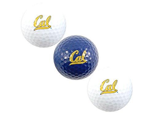 Team Golf NCAA California Golden Bears Regulation Size Golf Balls, 3 Pack, Full Color Durable Team Imprint