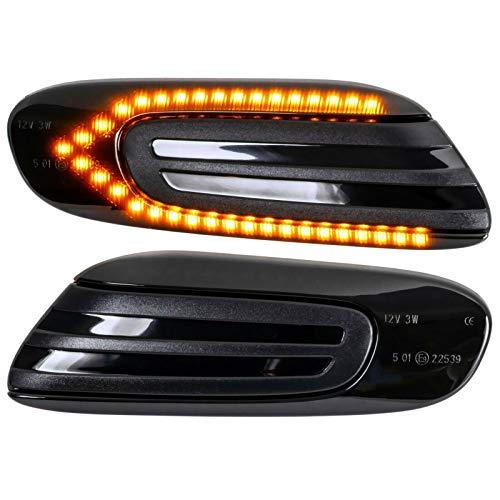 Freccia laterale a LED per Cooper One F55 F56 F57 2014 in poi luce di segnalazione luci di segnalazione Canbus SMD plafoniera fumé
