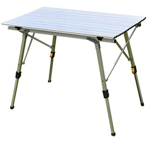 WPLHH Mesa plegable al aire libre de camping de aleación de aluminio mesa de picnic impermeable durable plegable mesa escritorio para 90 * 53 cm mesa de playa