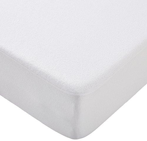 Waterdichte matrasbeschermer PU coating, overtrek voor totale bescherming. 160 x 200 cm wit