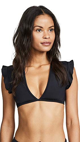 BETH RICHARDS Women's Sophia Bikini Top, Black, Large