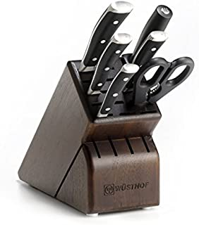 Wusthof 8347-33 Classic IKON Seven Walnut Block 7-Piece German Precision Forged High Carbon Stainless Steel Kitchen Knife Set