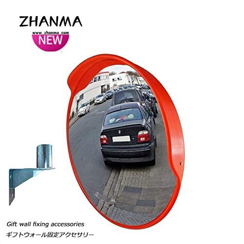 Garagenspiegel- Konvexen Spiegel Runde Verkehr Straßenkreuzung Lager Totwinkel-Sicherheitsspiegel 60cm 80cm, senden Winkelmontage ZhanMaAZ.01.27 (Size : 60cm)