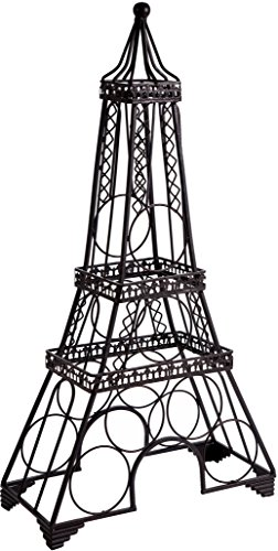 Home Essentials & Beyond Home Essentials Wine Rack Eiffel Tower black, Clear
