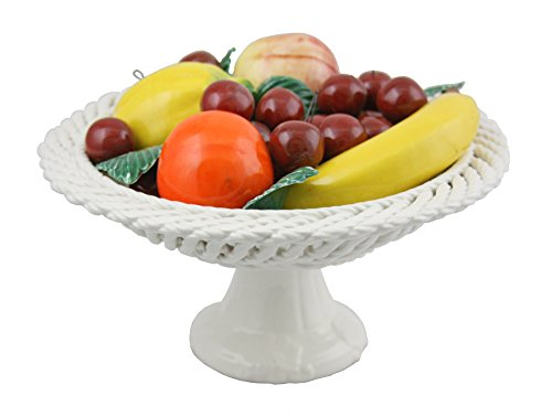 Capodimonte Authentic Italian Round Bowl of Mixed Fruit Stand