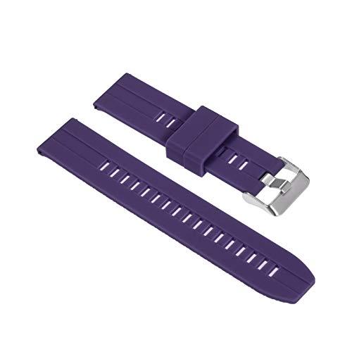 Romacci Pulseira de silicone 20mm pulseira de liberação rápida com fivela macia pulseira respirável compatível com relógio tradicional/inteligente de 20mm