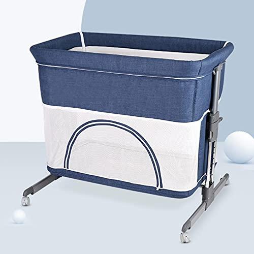 zcyg Cuna de Viaje Cuna, Cama Multifuncional Cama Plegable Shaker Shaker Cama De Juego Recién Nacido(Color:Azul)