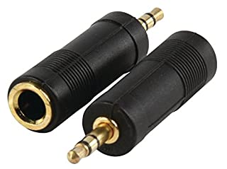 mr!tech | Connectique - Adaptateur 1x jack stereo femelle 6.35mm, 1x jack stereo màle 3.5mm - Plaqué Or (Gold) (B0028USW6O) | Amazon price tracker / tracking, Amazon price history charts, Amazon price watches, Amazon price drop alerts