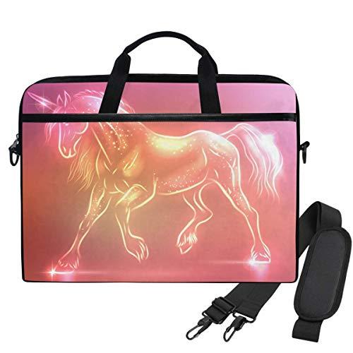 Laptop Shoulder Bag Fairy Unicorn Sparkles 15.6 Inch Laptop Case for Women Men