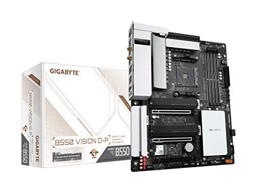 GIGABYTE B550 Vision D-P (AM4/AMD/ B550/ ATX/Dual M.2/SATA 6Gb/s/USB 3.2 Tipo-C/Thunderbolt 3/WiFi 6/Dual 2.5GbE LAN/PCIe 4.0/placa madre)