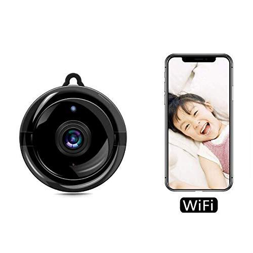 Cámaras Espía Ocultas, Cámara Pequeña para Monitor De Bebé Cámara IP De Seguridad De Tamaño Mini HD WiFi 1080P V380 Sistema Inalámbrico De Gancho Espía Oculto, para Interiores