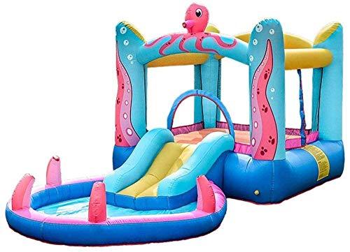 YF-SURINA Piscinas infantiles para niños Castillos hinchables Juguetes deportivos Tobogán acuático con rociador Jardín de verano portátil al aire libre Piscina infantil Apto para 1~3 personas -,38