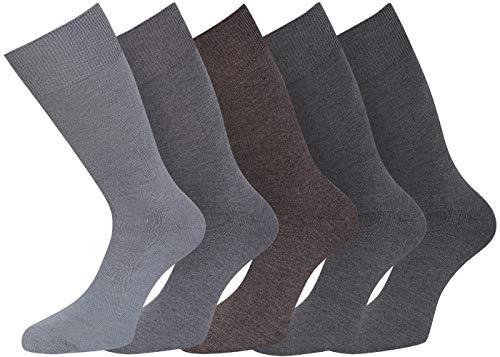 kb-Socken - 5-10 Paar Diabetikersocken Herrensocken ohne Gummi Blau Grau Schwarz Herren Socken Strümpfe Ges&heitssocken 39-42 43-46 47-50