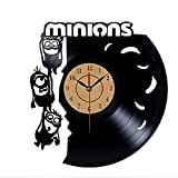 WERWN Reloj de Pared de Vinilo Diseño Creativo de Dibujos Animados CD Reloj de Pared Reloj Decorativo Antiguo