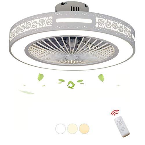 Zzxyxdd Ventiladores de Techo Modernos con lámparas Invisibles de araña de luz con Control Remoto, Kits de LED Regulables