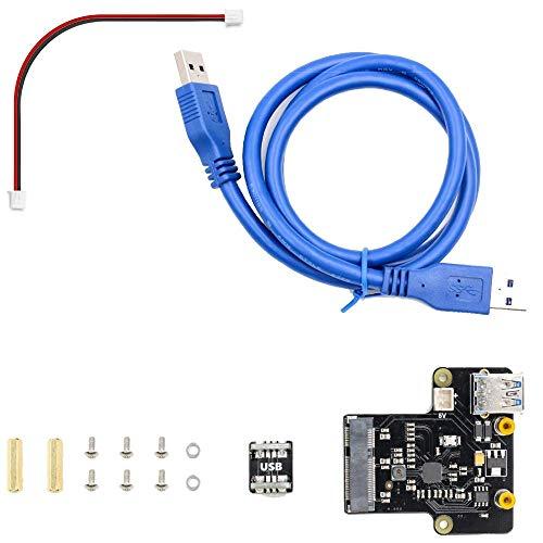 GUOCAO Raspberry Pi X850 MSATA SSD-Disk-Erweiterungskarten unterstützt 1 TB USB 3.0 Werkzeuge