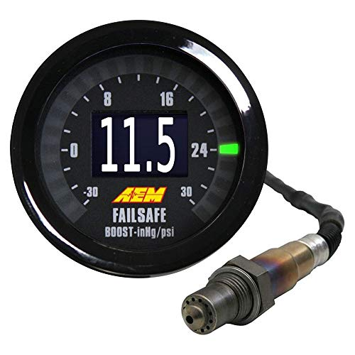 AEM 30-4900 Wideband Failsafe Gauge, Schwarz