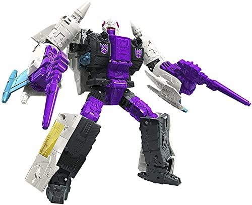 Transformers Kingdom Transformers Juguetes Generaciones Guerra de Cybertron: Earthrise Deluxe WFC-E5 Figura de acción de elevación - niños de 8 años en adelante Figura de acción de Optimus Prime