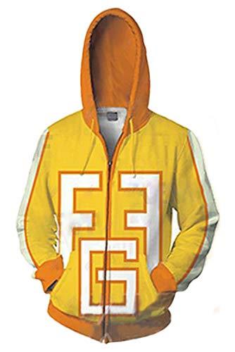 Unisex My Hero Academia Cosplay Kostüm 3D Druck Kapuze Sweatshirt Herbst Winter Langarm Hoodie Mantel Jacke Gr. XX-Large, Version 9