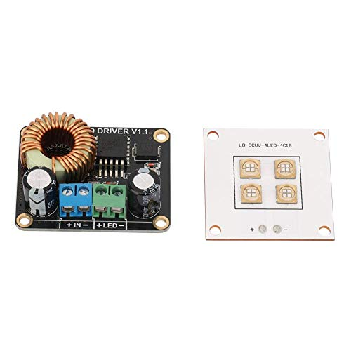 Yongenee 3D Printer Parts, 3D Printer Parts 40W UV LED Light Source Lamp Panel + 30W LED Driver Board for DLP tools
