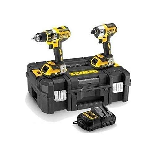 DeWalt DCK2015M2T-QW DCK2015M2T-QW-KIT XR 18V = DCD776 Taladro Percutor + DCG412 Amoladora + 2 baterías + maletín TSTAK Vi