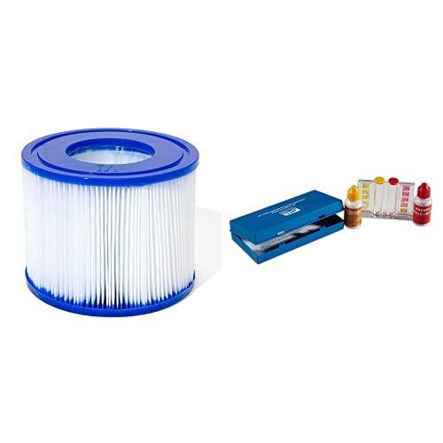 Bestway 58323 Cartuchos de filtro de repuesto para Lay-Z-Spa + Quimicamp 209080 Kit Analisis Oto Y Ph 209080
