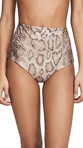 Mara Hoffman Women's Lydia High Waisted Bikini Bottoms, Sand Multi, X-Small