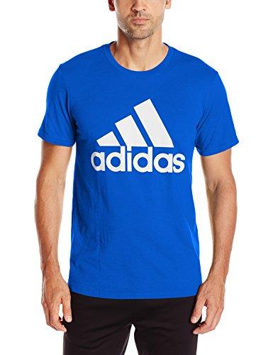adidas Men's Badge of Sport Graphic Tee, Collegiate Royal/White, Medium