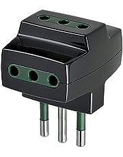 VIMAR S3611D 0A00320N Adattatore Triplo multipresa S11+3P11 Nero