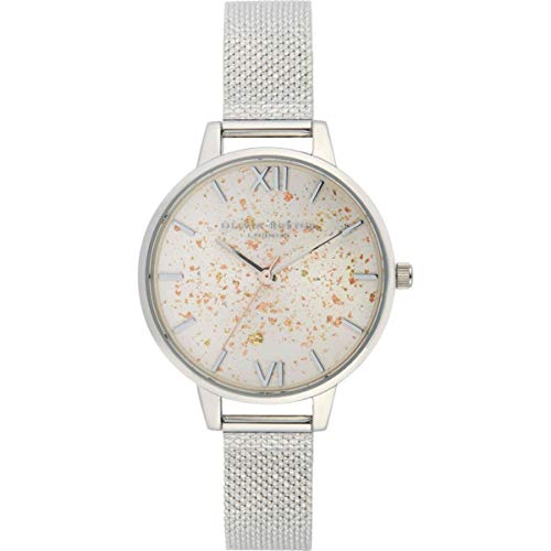 Olivia Burton Damen Analog Quarz Uhr mit Edelstahl Armband OB16GD14