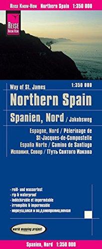 España Norte, mapa impermeable de carreteras. Escala 1:350.000 impermeable. Reise Know-How.: worldmappingproject