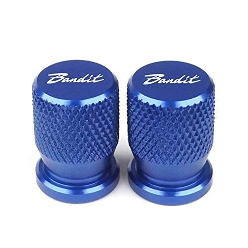 Motorcycle Car Ruedas Neumáticos Neumático Tallo Tapas de aire para Suzu-Ki Bandit 1200 1250 / S/F 250 400 650 GSF650 Ban-DIT GSX1250 GSX1400 (Color : Blue)