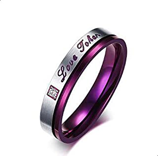 Ring for women purple with crystal size 5
