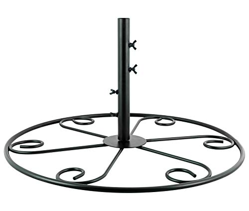 Woodside Bird Feeding Station Patio Stand Base, Heavy Duty Steel, Universal Up To 28mm, Large 60cm Diameter